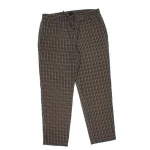 TOMMY HILFIGER Plaid Pants with Stretchy Waist